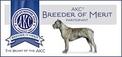 AKC Breeder of Merit Program honors responsible breeders who have gone above and beyond on health issues, temperament, and genetic screening, as well as to the individual care and placement of puppies in responsible homes.